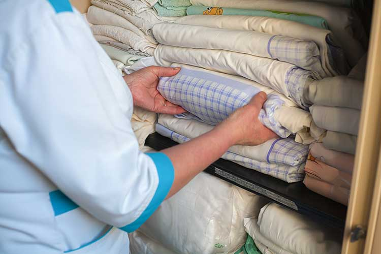 laundry infection control home care linen storage