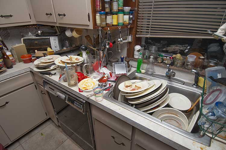 loneliness social isolation home care signs of loneliness unwashed dishes