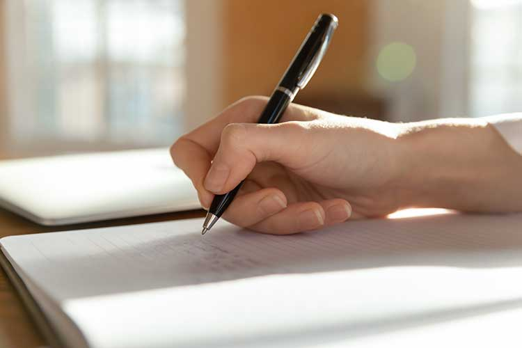 worker handwriting health information