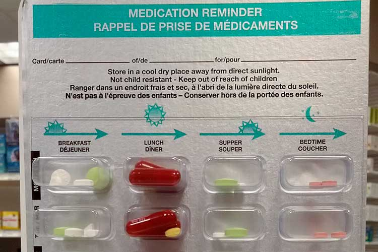 secure dosage administration aid